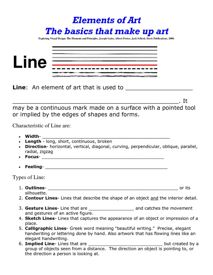Elements And Principles Of Art Line : Best e ps of art worksheets handouts images on