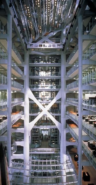 atrium of the hong kong and shanghai banking corporation norman foster