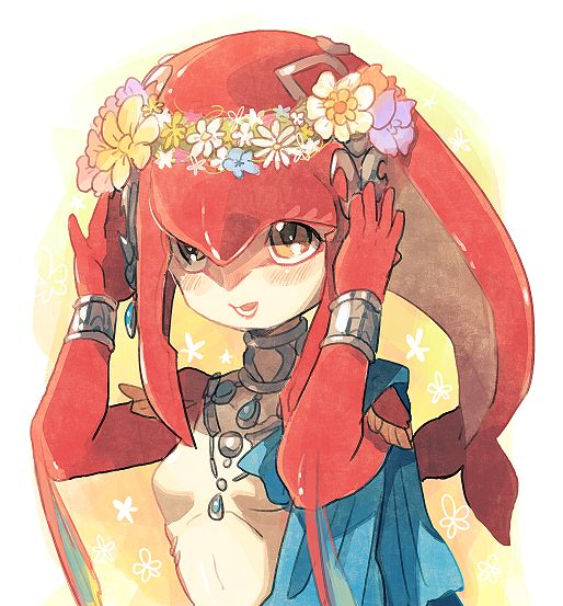 mipha (the legend of zelda and the legend of zelda: breath of the wild) drawn by kinako
