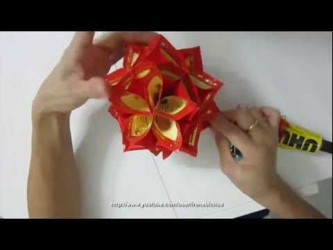 How to make a decorative flower ball using ang pow paper for Ang pow packet decoration