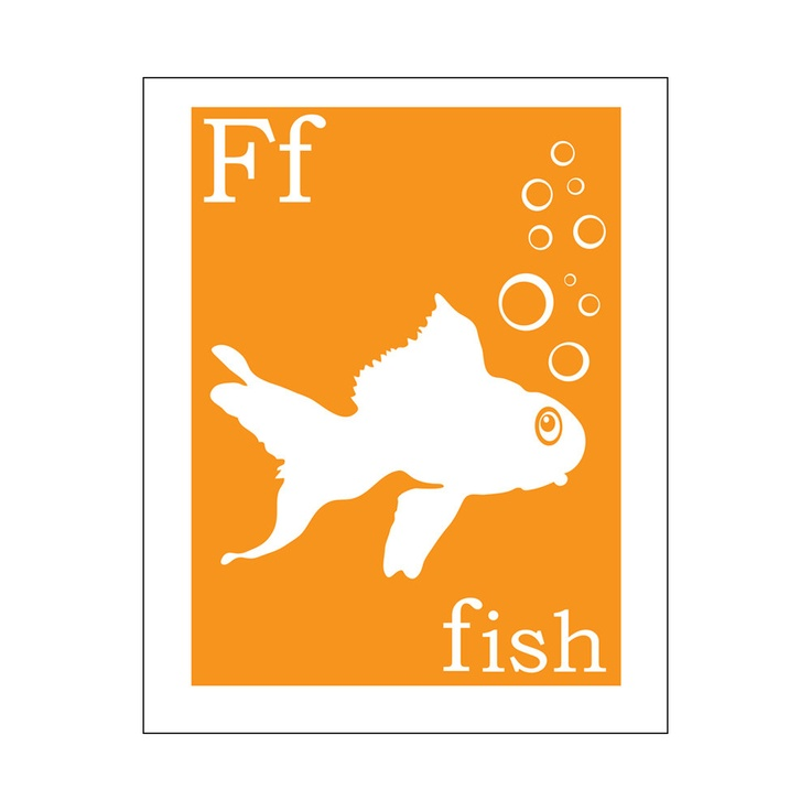 F is for Fish 8x10 inch poster print  Finny and Zook by KZukowski, $12.00Inch Prints, Picture-Black Posters, Inch Posters, Posters Prints, Fish 8X10, Baby Fisher, 8X10 Inch, Giclé Prints, Poster Prints