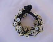 Bracelet with ivory buttons