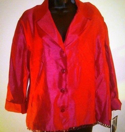 Sag Harbor Dress Plus Sized Women's Red Button Down Decorative Shirt 18 #SagHarbor #ButtonDownShirt #EveningOccasion