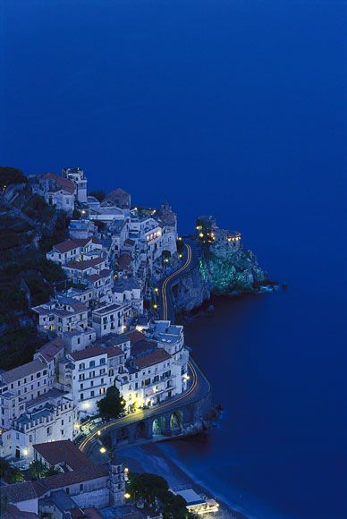 Il Nastro Azzuro refers to the ribbon of state road that runs twisting through the coastal towns. Italy