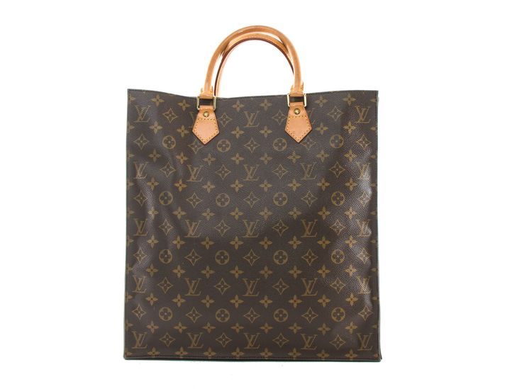 Authentic Louis Vuitton Monogram Sac Plat tote M51140