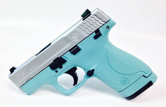 Smith and Wesson : For Sale: Tiffany Blue S&W Shield 9mm Handgun