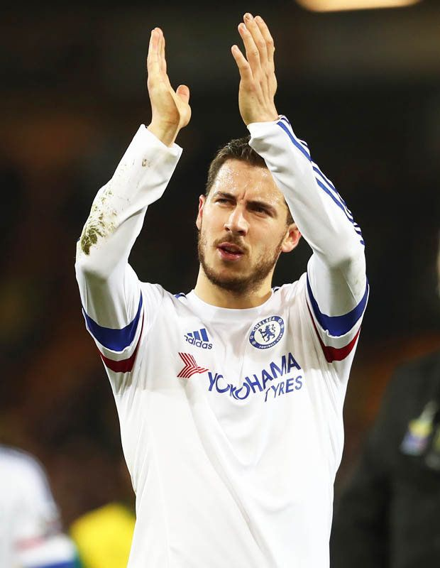 Eden Hazard looked lively for Chelsea throughout at Carrow Road