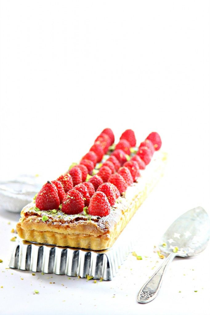 Raspberry Nutella Frangipane with Pistachios