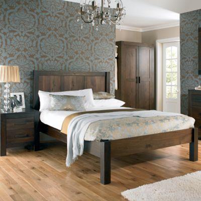 Walnut 'Lyon' bed frame at debenhams.com