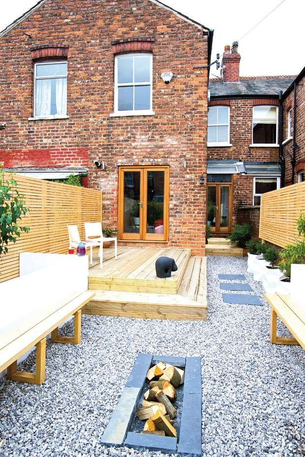transforming a derelict terraced house real homes garden potsgarden ideasterrace