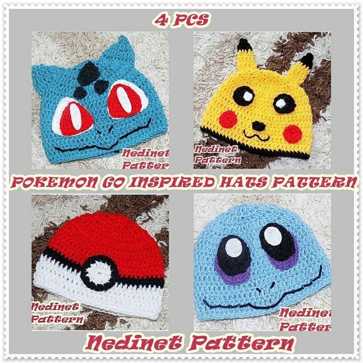 Crochet pokemon inspired hat pattern.