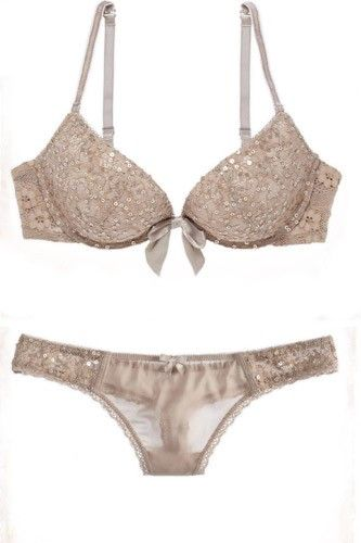 Sexy Lingerie That'll Land You On The Naughty List #refinery29  http://www.refinery29.com/best-holiday-lingerie-nyc#slide-2  Maybe not the most T-shirt friendly option, this glittery two-piece has just the perfect amount of bedroom sparkle. Aerie Emma Sequined Bra And Thong, $26.70 and $12.50, available at Aerie in American Eagle, 40 West 34th Street (between 5th and 6th Avenues), 212-947-1677.