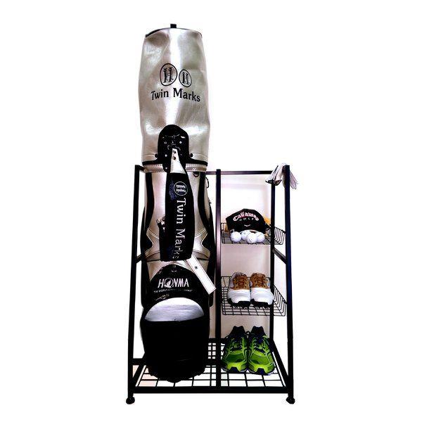 Single Bag Golf Organizer Freestanding Sports Rack
