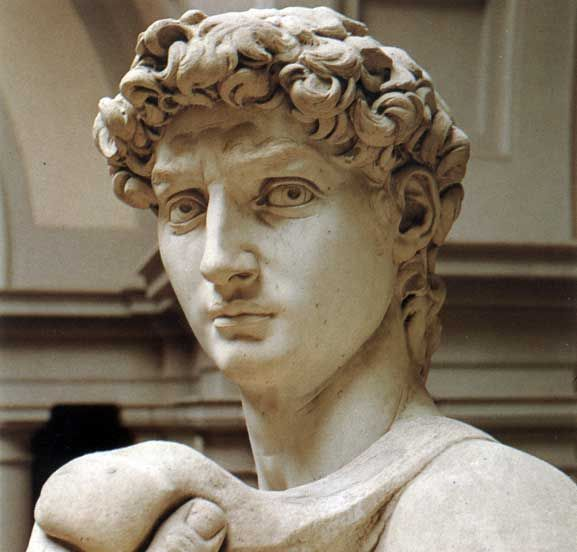 A description of the bronze statue of david