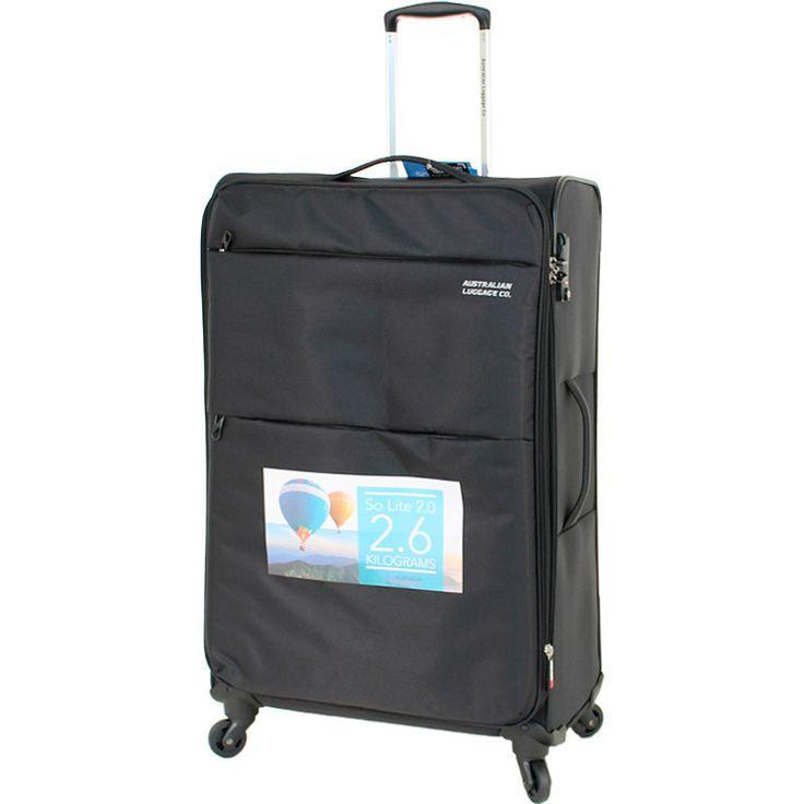 Aus Luggage So Lite 2.0 4 Wheel Suitcase - Black | Buy 4 Wheel Suitcases
