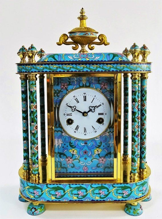 LARGE CLOISSONE FABULOUS TABLE CLOCK