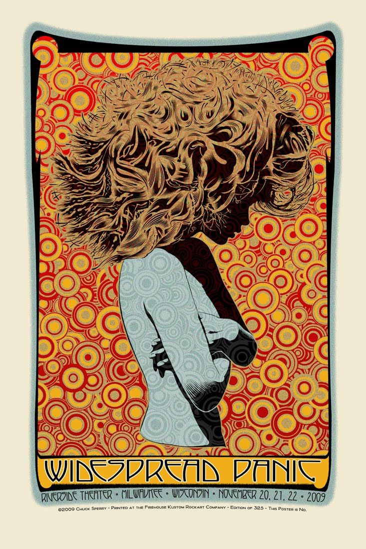 cheap yellow shoes Chuck Sperry - Widespread Panic Milwaukee. Silkscreen, 22x33 in. (2009) | Street Art & Alternative Art |  | Widespread Panic, Milwaukee and Posts