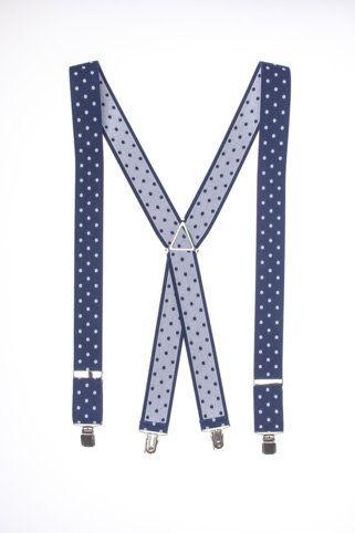 The British Belt Company 35mm Wide Polka Dot Suspenders with Clip Groomsmen, Groom