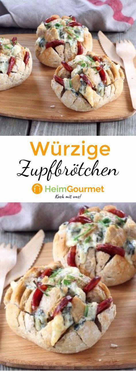 Genial: Würzige Zupf-Brötchen mit Käse – Edelgard Gehrke