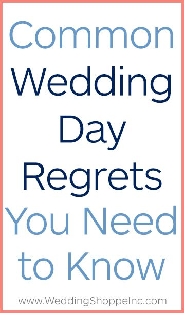 Brides & Grooms Share Their Biggest Wedding Day Regrets