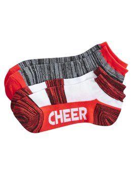 2 Pack Cheer Ankle Socks