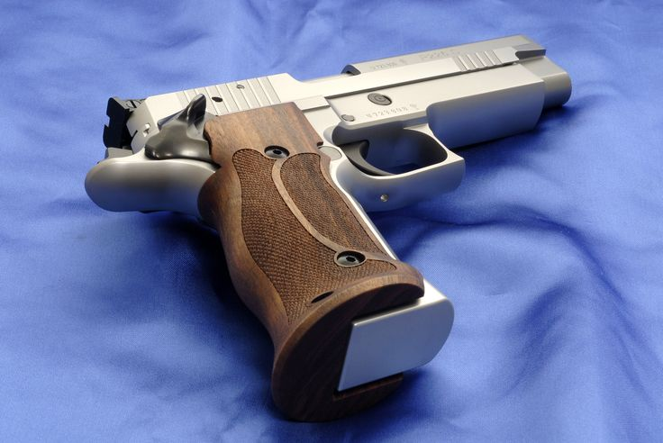 Sig-Sauer P226 X-5 Competition chambered in 9mm, wearing ...