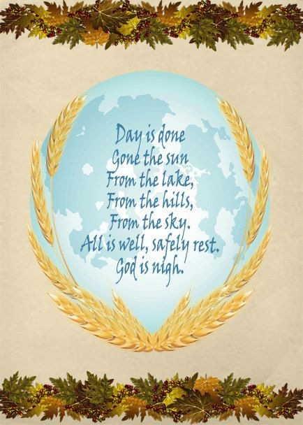 U.S. Military Bugle Call Image, Taps Image, Day Is Done Lyrics Image, Wall Art, Autumn Wall Décor, Family Room,Dining Room Décor,Fall Prayer by FosterChildWhimsy on Etsy