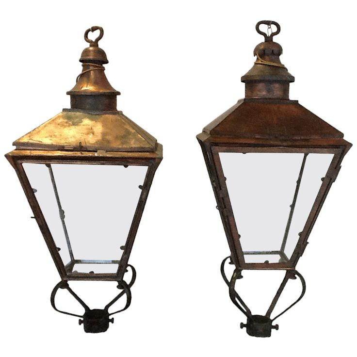 Pair Of 19th Century English Street Lanterns From A Unique Collection Of Antique And Modern