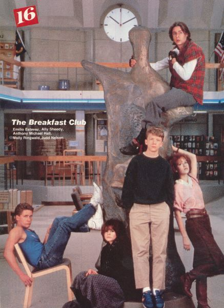 The Breakfast Club cast I never really thought about it but is that statue of a tree...?
