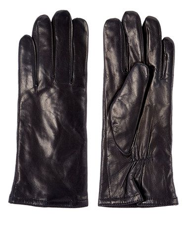 Another great find on #zulily! Black Leather & Thinsulate Gloves…