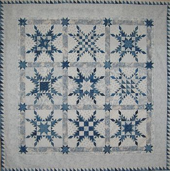 Feathered star in blue