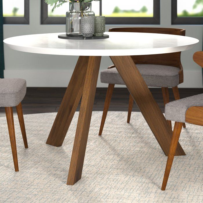 Ramsay Mid Century Modern Solid Wood Dining Table Solid Wood