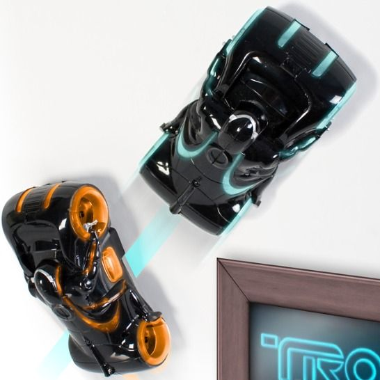 Coolest gadgets   TRON Wall Climbing R/C Light Cycle     Latest top geek gadgets