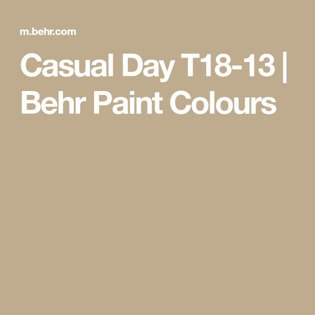 Casual Day T18-13 | Behr Paint Colours