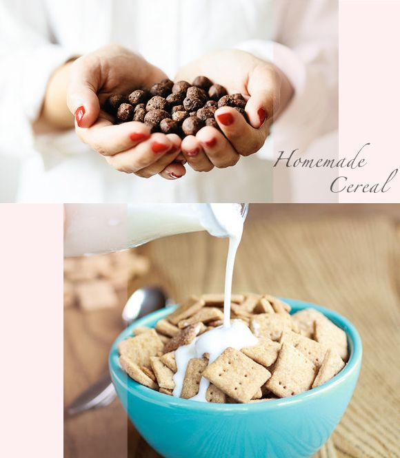 weekend project: Homemade cereal.  (There is even a recipe for Cinnamon Toast Crunch!)