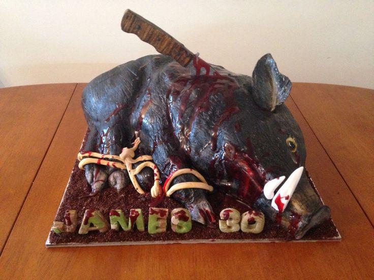 "My ""wild pig hunting cake """