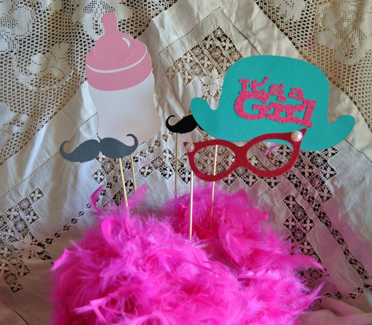 More photo booth props for baby shower