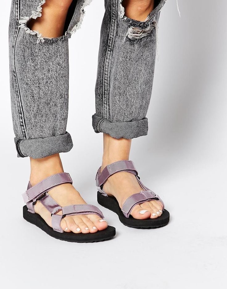 Teva+Original+Universal+Sea+Fog+Flat+Sandals, $63 YES