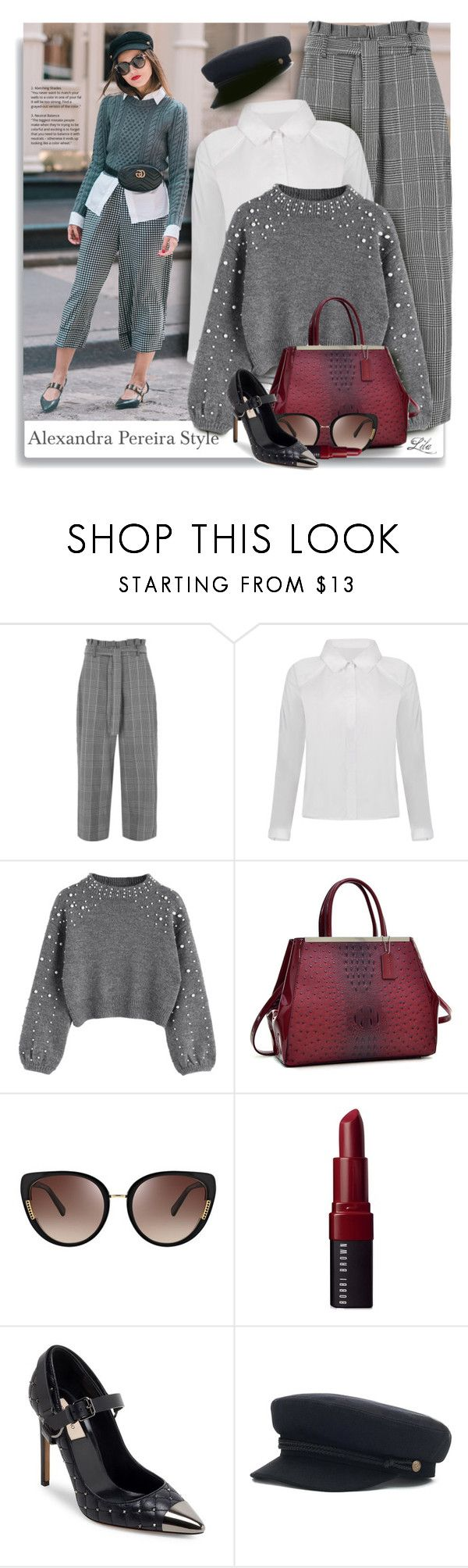 """""""Alexandra Pereira - Get the look"""" by breathing-style ❤ liked on Polyvore featuring River Island, Oscar de la Renta, Bobbi Brown Cosmetics and Valentino"""