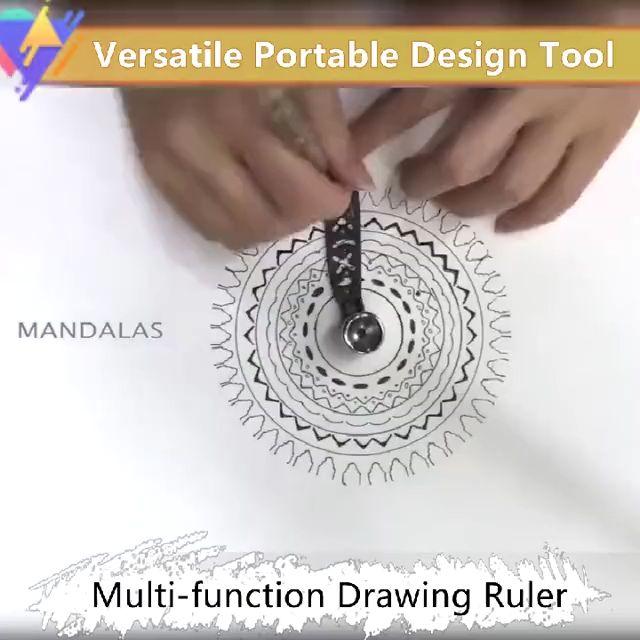 Versatile Portable Design Tool Multi-function Drawing Ruler(BUY 1 GET 2ND 10% OFF)