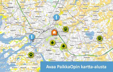 PaikkaOppi - Paikkatietotaitojen, maantieteen ja ympäristön tutkimuksen opetukseen suunniteltu verkkopohjainen oppimisympäristö.