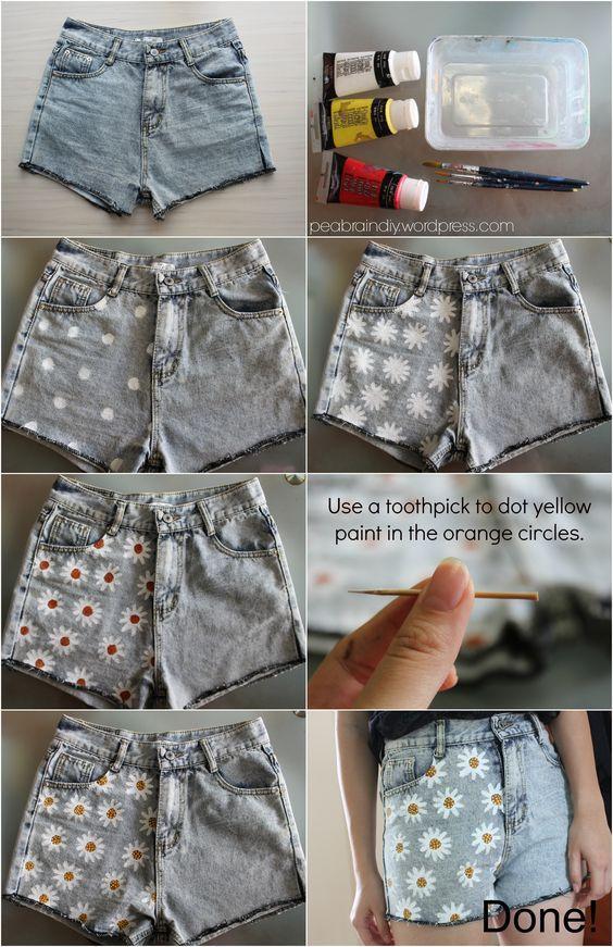 Einfache DIY-Anleitungen, um Ihre alten Denim-Shorts in moderne Kleidungsstücke umzuwandeln, die diesen Sommer getragen werden können