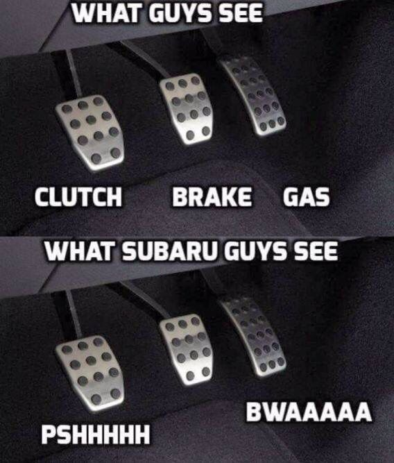 What guys see, What Subaru guys see :)))