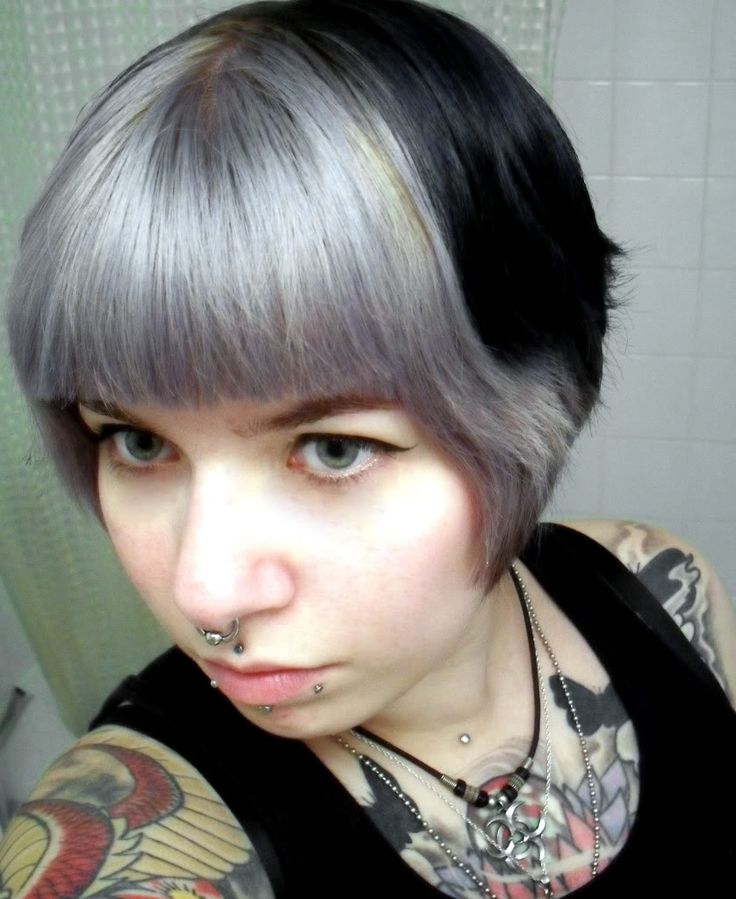 how to go grey from black dyed hair