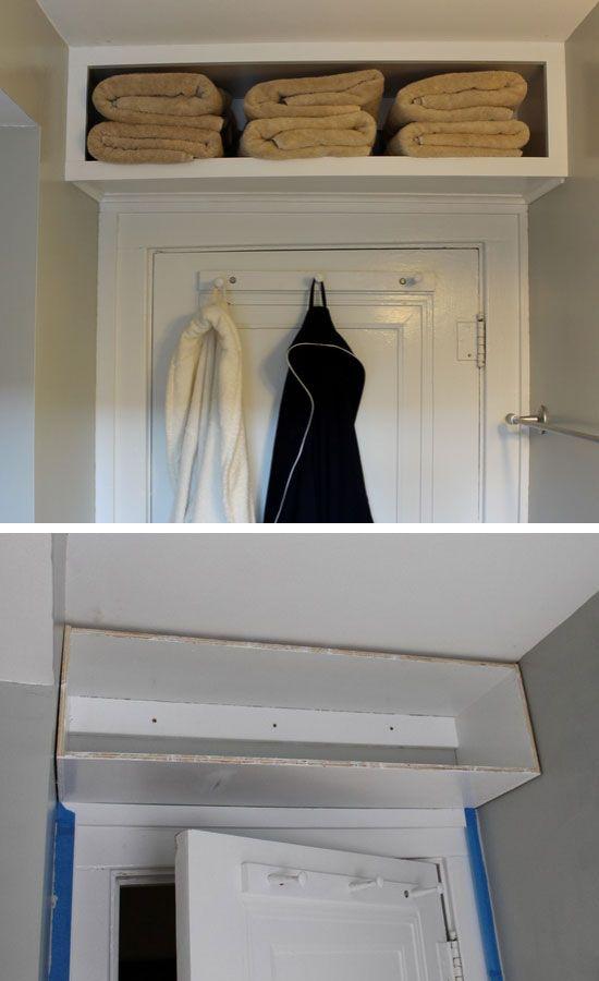 Over the Door Bulk Storage, Amazing DIY Bathroom Storage Ideas