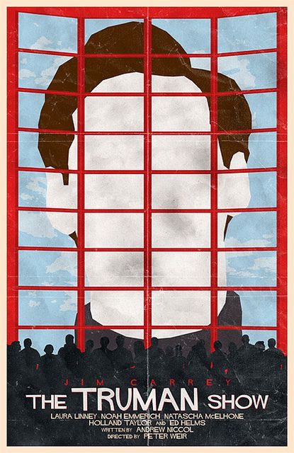 """MP1051. """"The Truman Show"""" Alternative Movie Poster by Bill Pyle (Peter Weir 1998) / #Movieposter"""