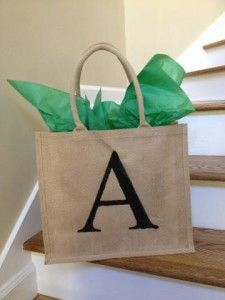 DIY Stenciled Tote Bag - a festive and frugal gift idea!