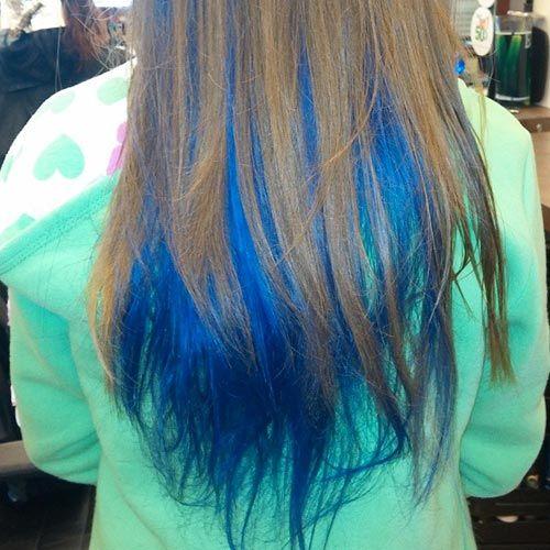blue hair streaks in light brown hair wwwpixsharkcom