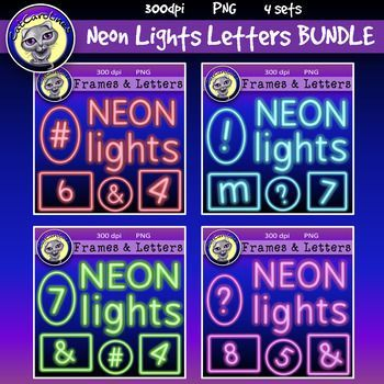 This bundle includes all four of my neon lights clip art letters products. These include uppercase and lowercase letters, numbers, certain special characters and frames (in four different shapes each) in red, blue, green and purple. This download includes a PDF file with the link to the product on Drop Box.