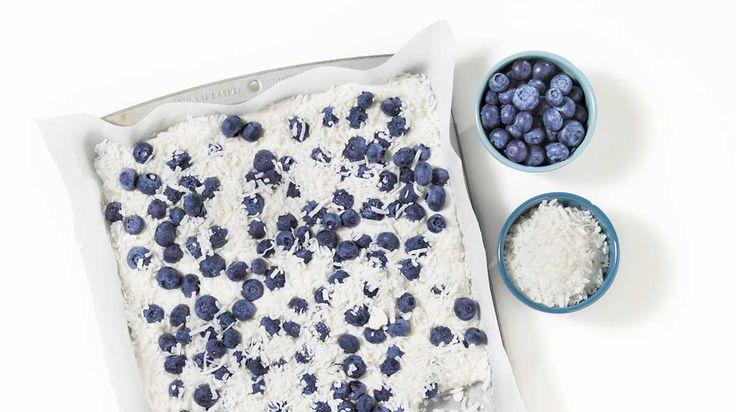 Éclats de yogourt glacé aux bleuets